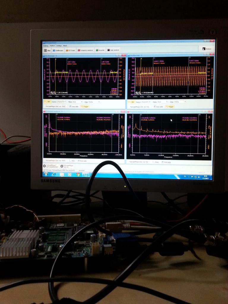 Measuring with USB oscilloscope