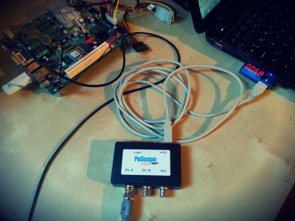 Lowest power consumption USB oscilloscope - the measurement