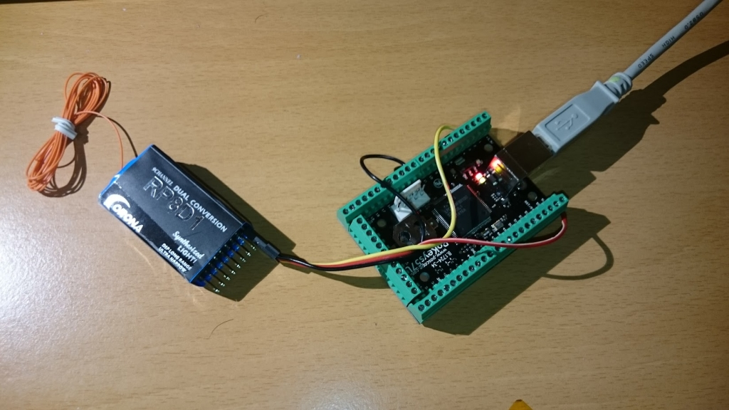 PoKeys and RC receiver connection for RC simulator interface