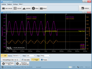 PoScope4 as PC oscilloscope software with all features of classic oscilloscope
