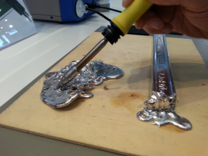 We tried several soldering tools.