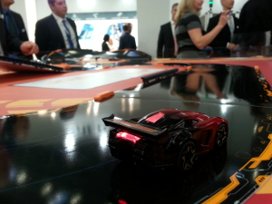 Racing with bluetooth cars.