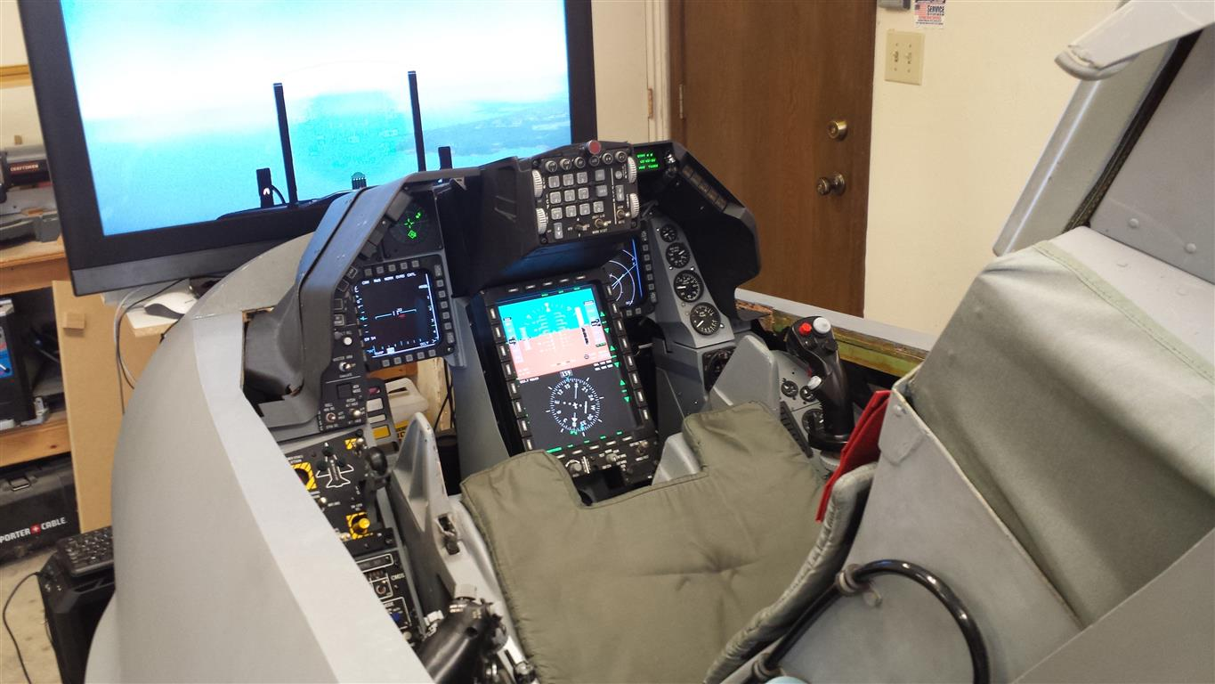 F16 flight simulator with PoKeys as USB simulator interface
