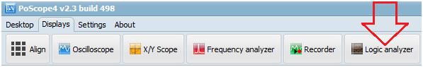 Open Logic analyzer display in PoScope4