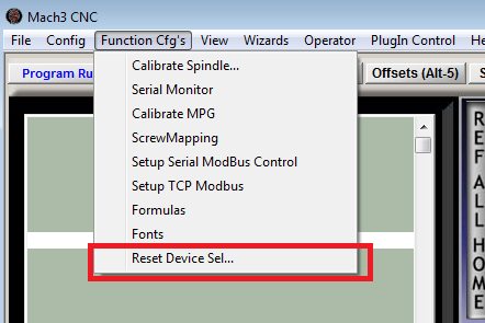 Reset motion device