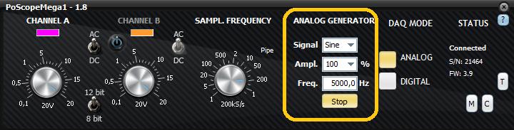Control GUI for PoScopMega1+