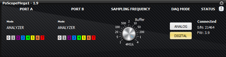 Logic analyzer sampling frequency goes up to 4MHz