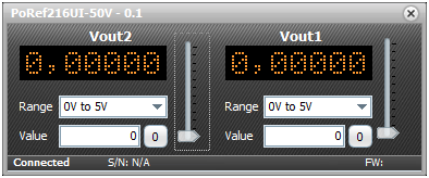 Fig. 15: PoRef216U-50V control GUI