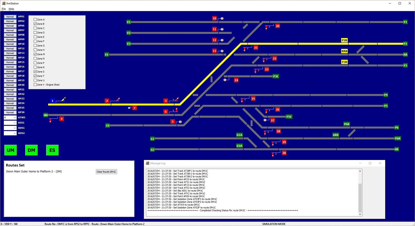Photo 4: Overview of control signals