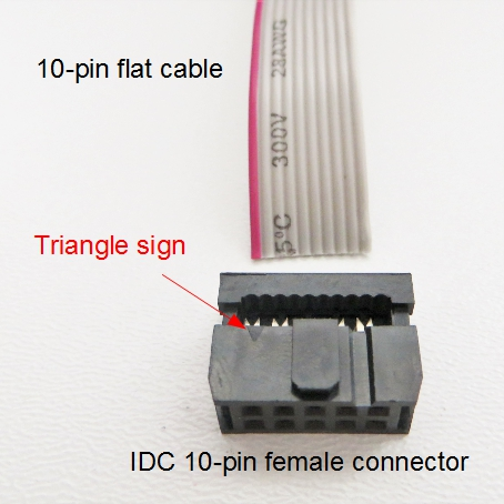 CablePack PoKeys57CNC connectors - IDC_10Pin_triangle_sign