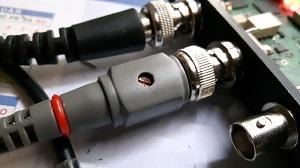 Adjustable probe capacitance