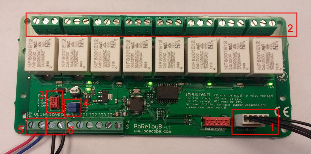 PoRelay8 8 channel relay module