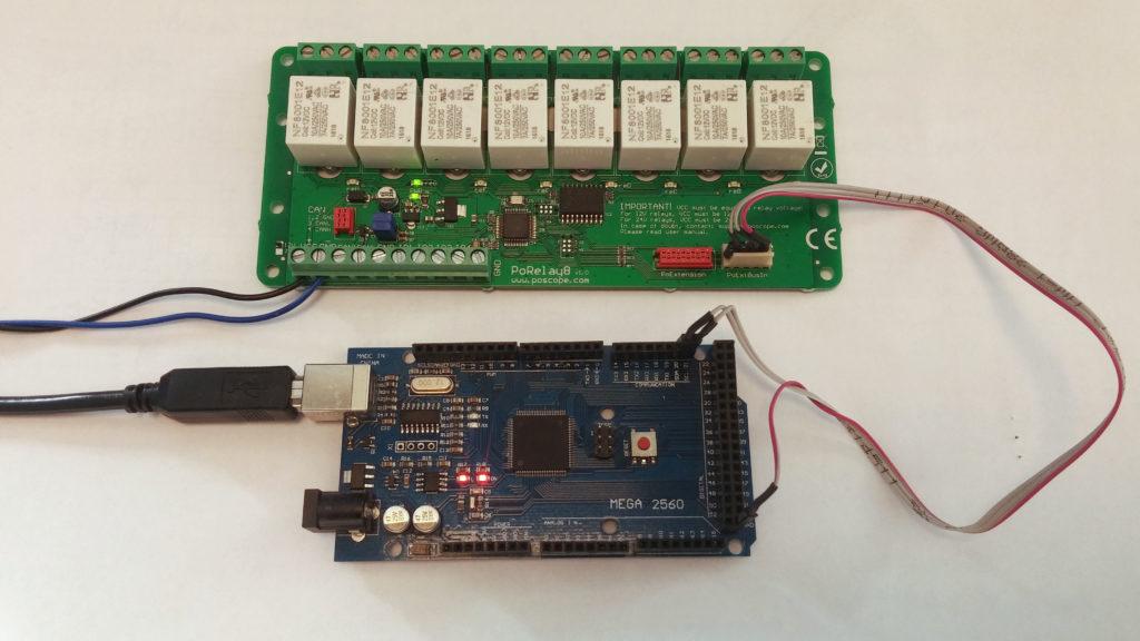 Arduino Mega2560 driving relay board