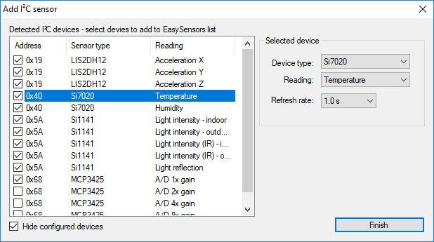 PoKeys I2C Sensors