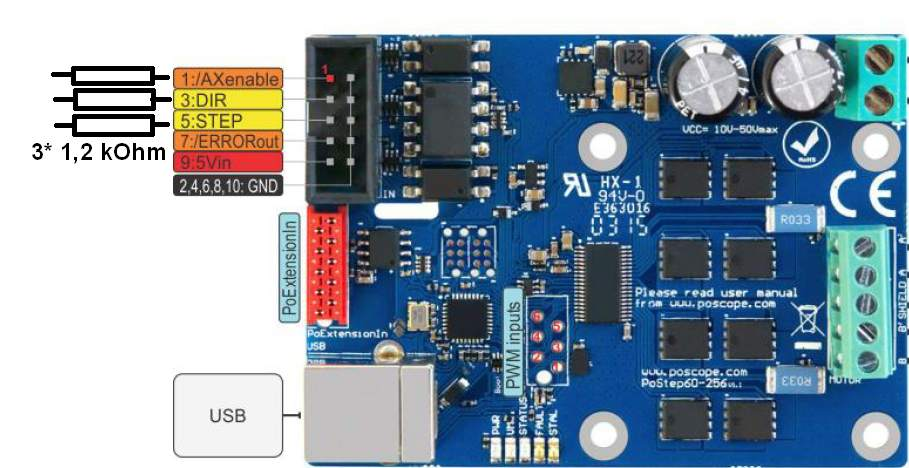 PoStep60-256 microstep stepper motor driver 24 modification
