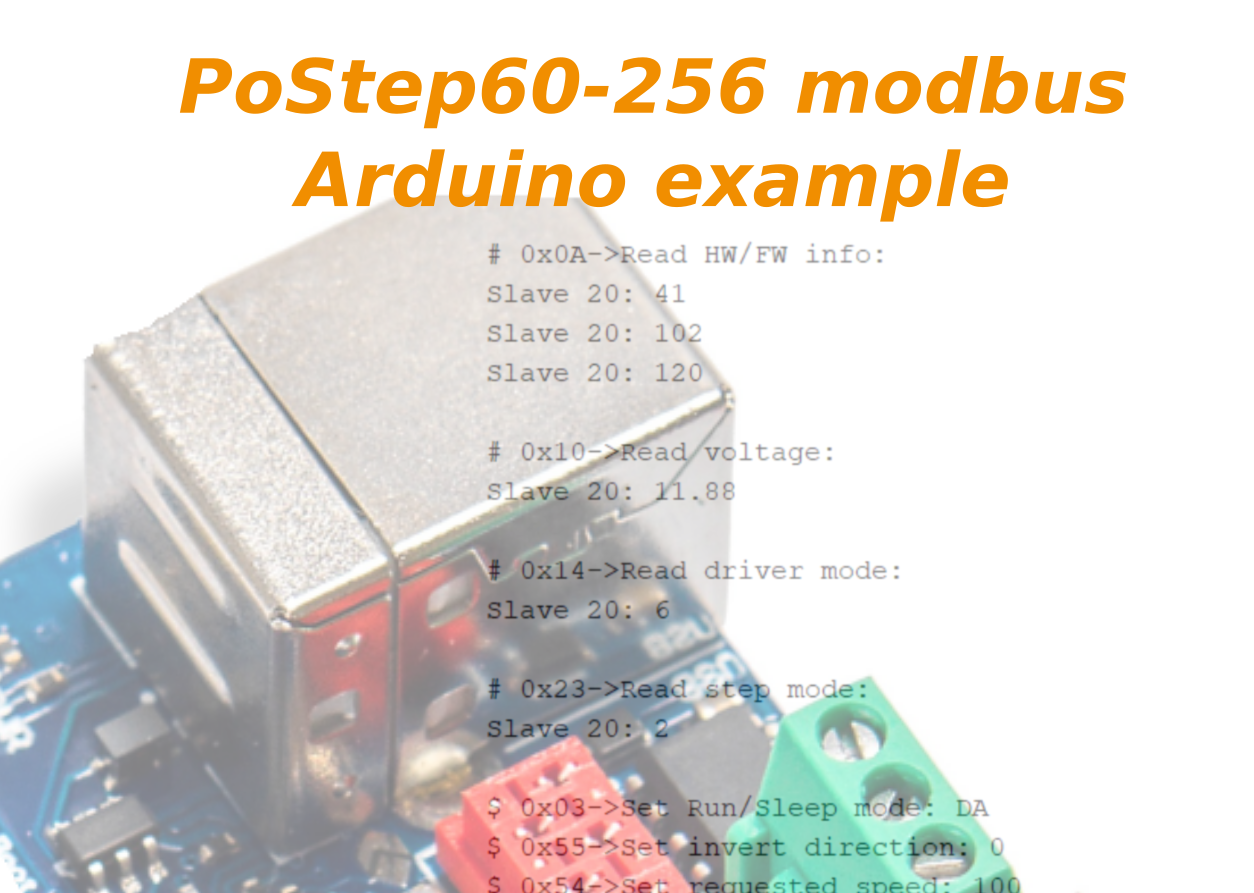 Stepper motor driver with modbus