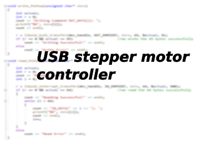 USB stepper motor controller