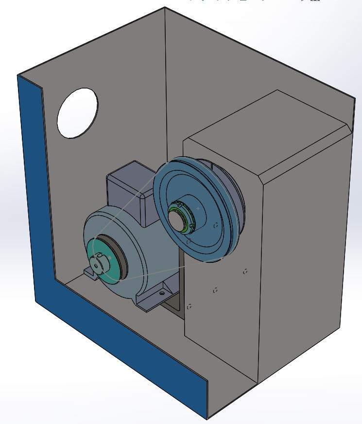 CNC Lathe spindle motor 3d model