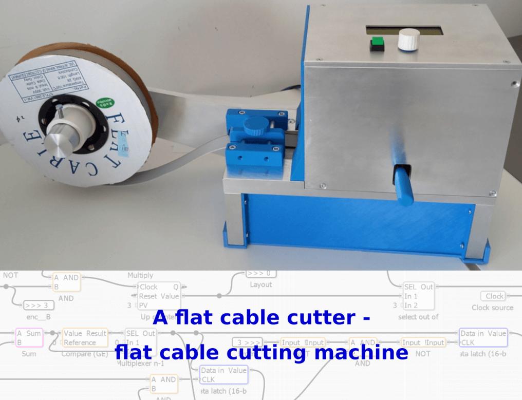 Flat cale cutting machine
